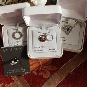 925 NECKLACE W/diamonds~free gift w/purc